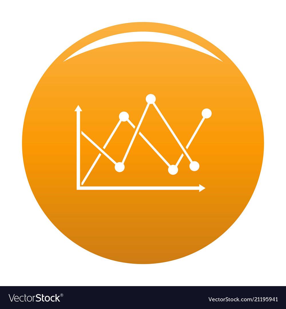 Line diagram icon orange