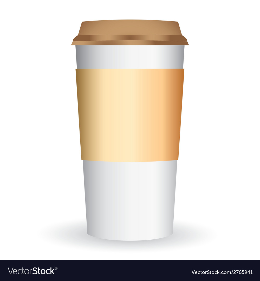 Paper coffee long cup