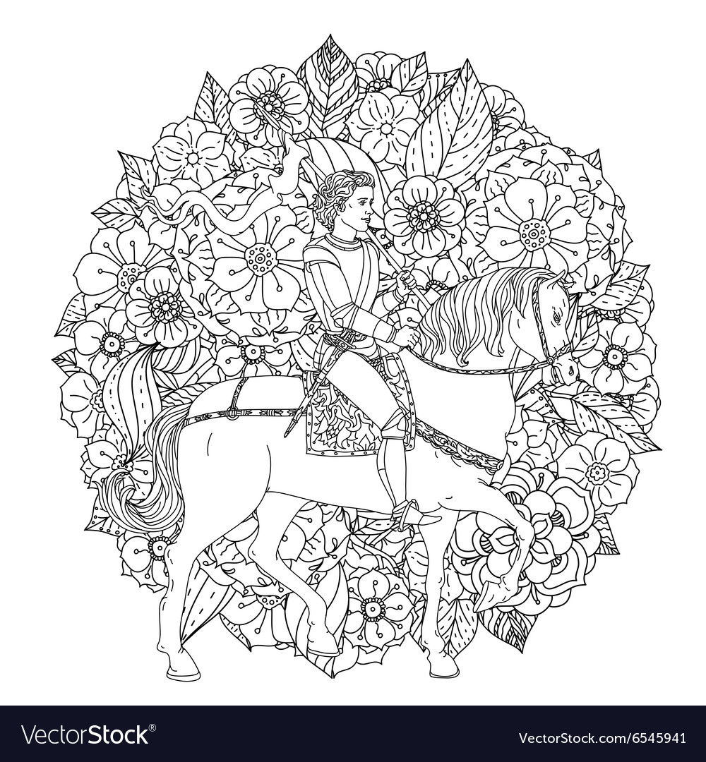 Prince from a fairy tale vector image