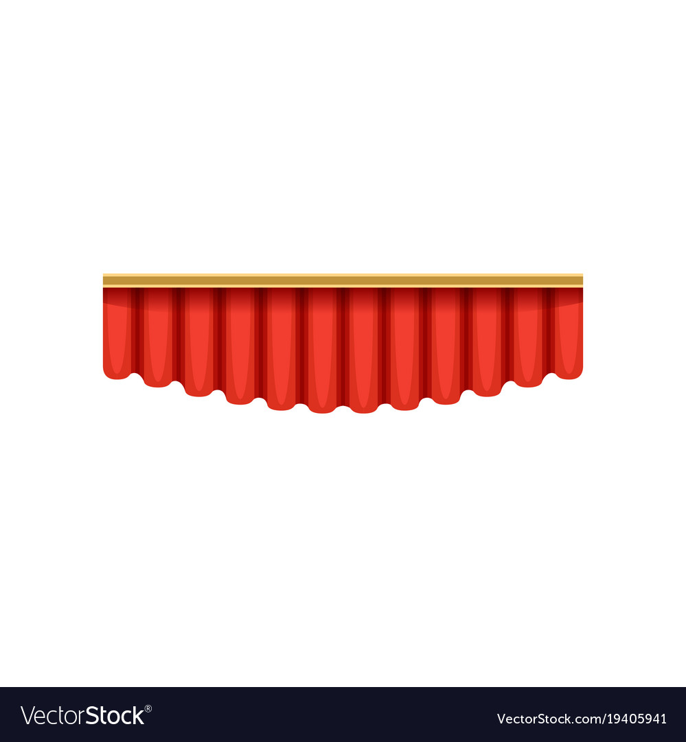 Red silk pelmets for theater