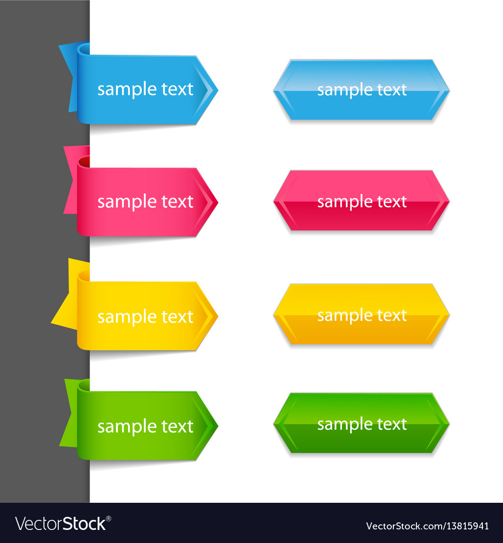Ribbon list of options vector image