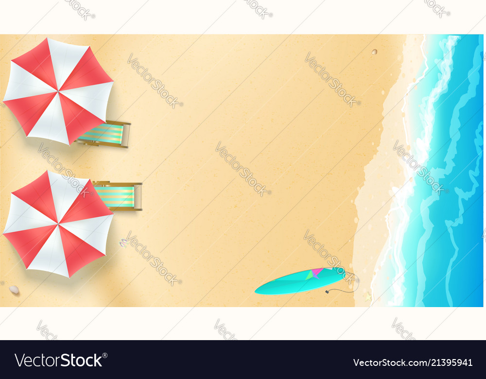 Seascape seashore with sandy beach top view of