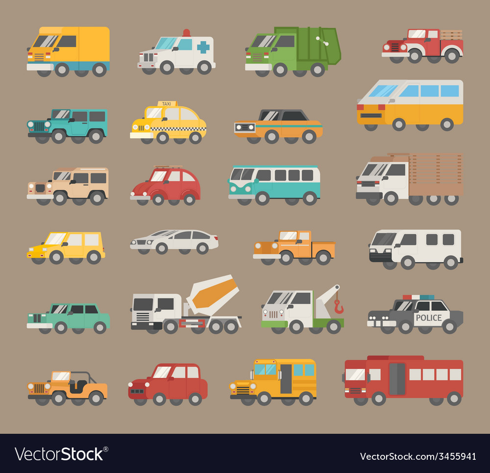 Set of car icon