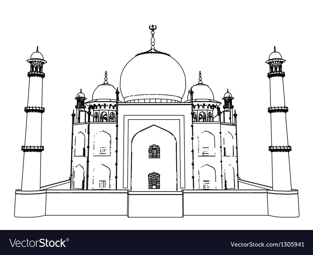 Taj Mahal outlines in very high detail 3d
