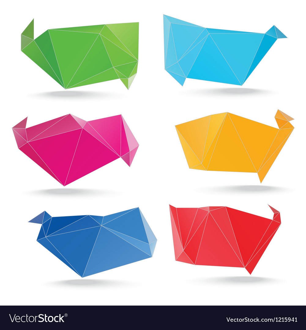 Trendy crystal triangle banner shapes vector image