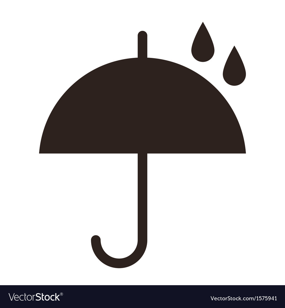 Umbrella with raindrops vector image