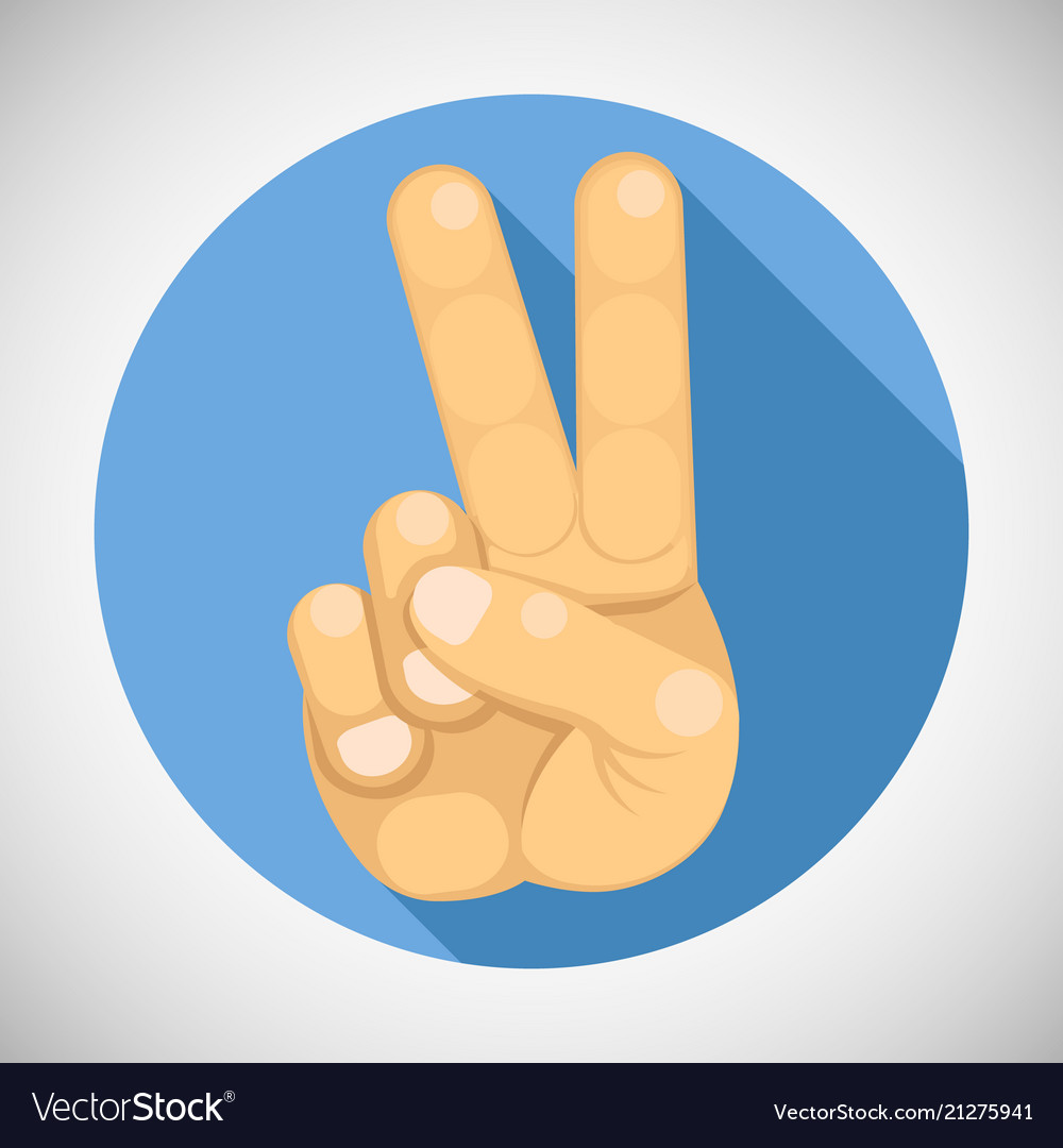 Victory peace v sign hand gesture index middle