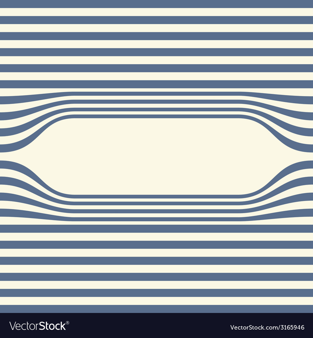 Abstract striped wallpaper frame