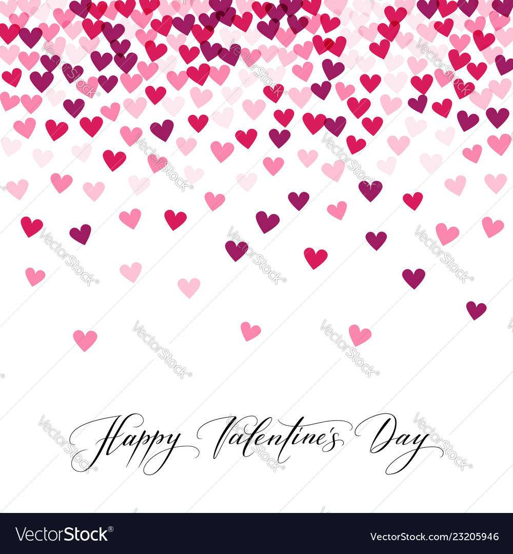 Background with hearts and happy valentine s day