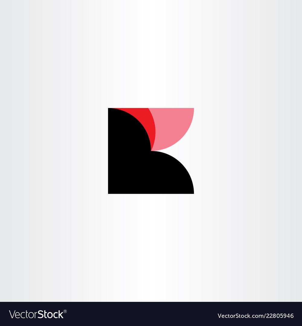 K logo black red logotype symbol