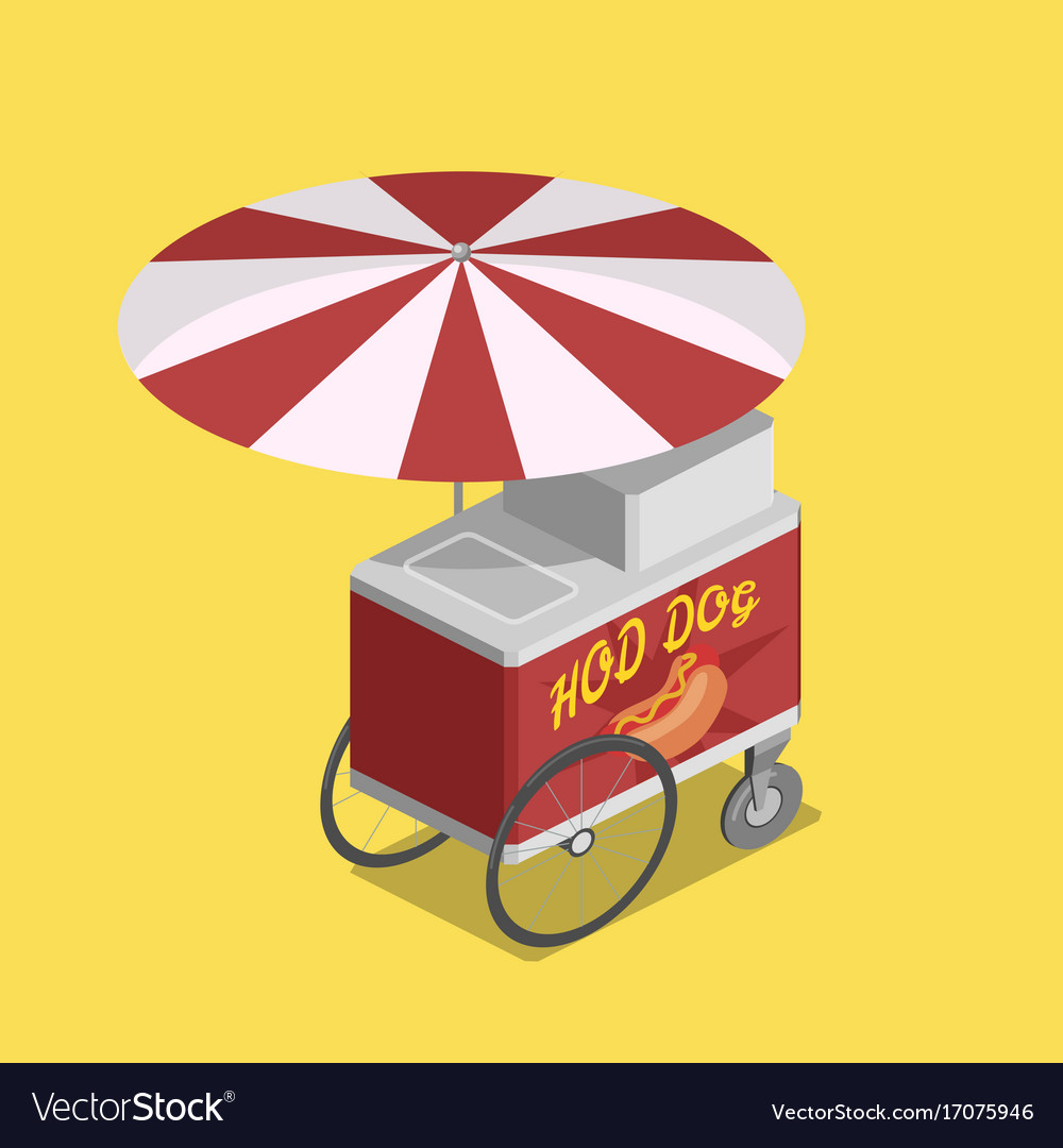 Trolley for hot dogs isometric