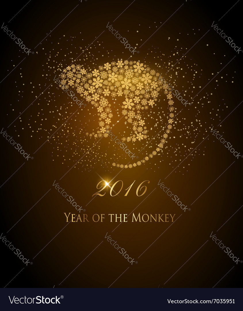 Happy new year 2016 background with a monkey year