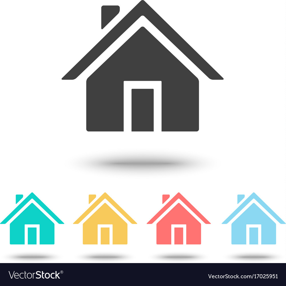 Home icon isolated vector image