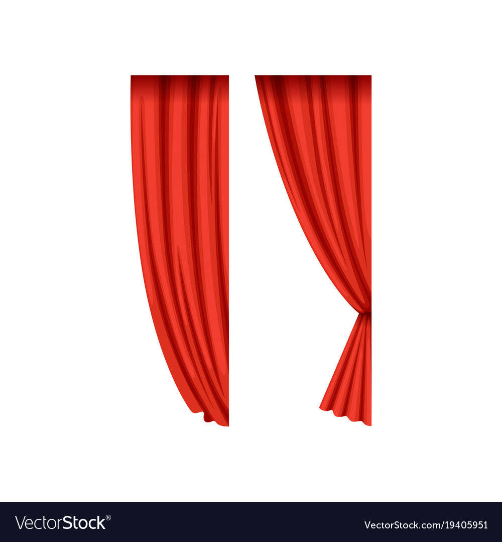 Icons of red silk or velvet theatrical curtains