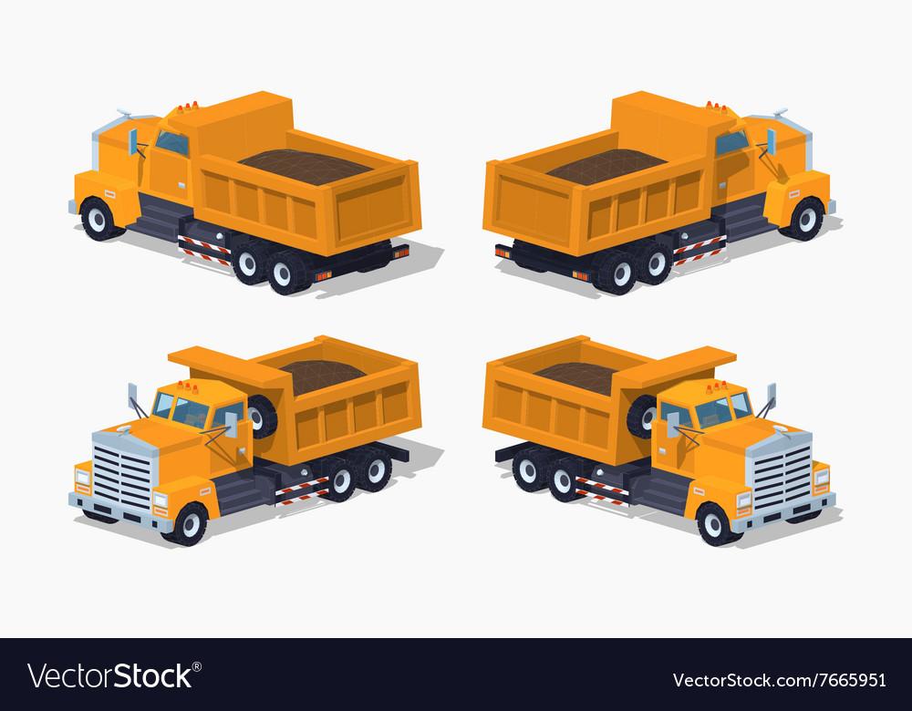Loaded orange dumper vector image