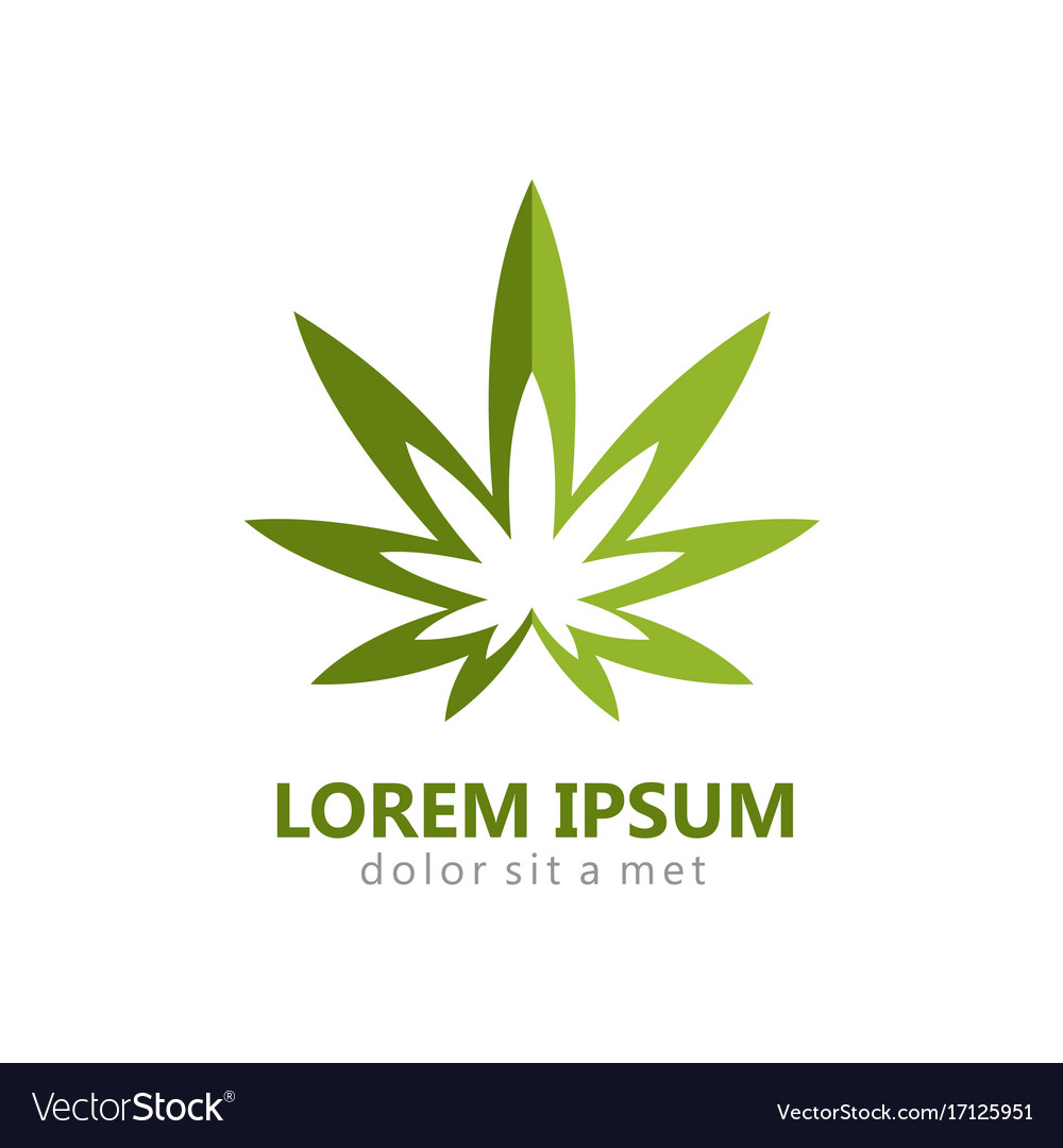 marijuana leaf abstract logo royalty free vector image rh vectorstock com pot leaf emblem mw2 Marijuana Pot Leaf Tattoo Designs