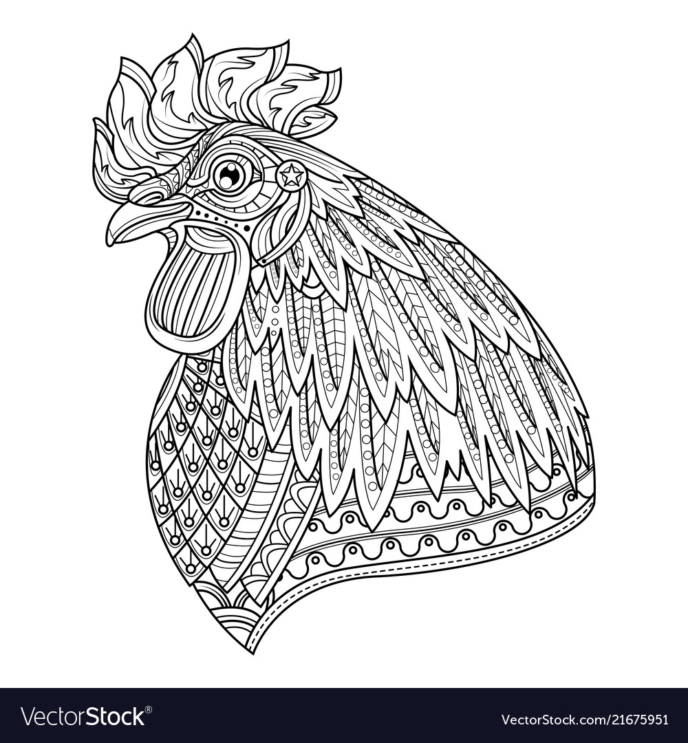 rooster coloring pages | Rooster Printable Coloring Pages | Farm ... | 1080x1000