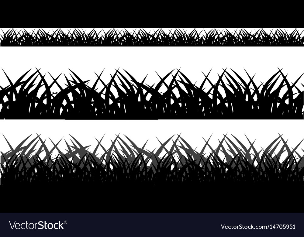 Seamless grass field grass pattern isolated on