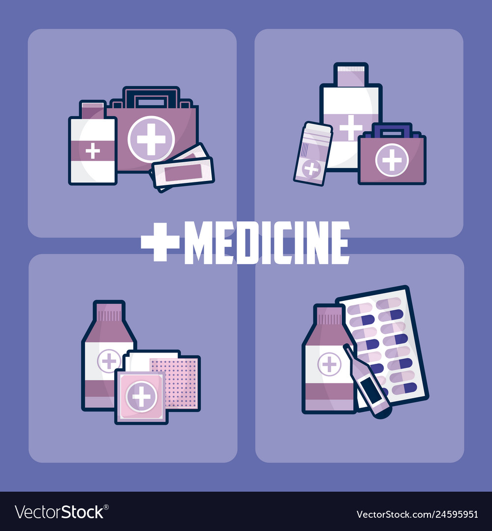 set of medicine and drugs royalty free vector image set of medicine and drugs royalty free vector image
