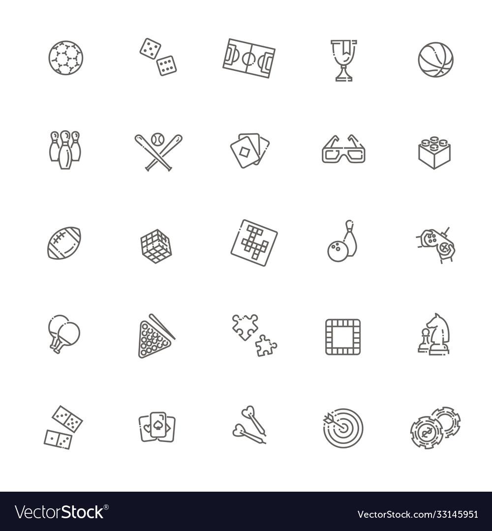 Set sport icons