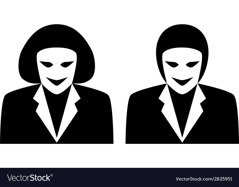 Stylish Gender Avatars Male And Female Symbol Vector Image