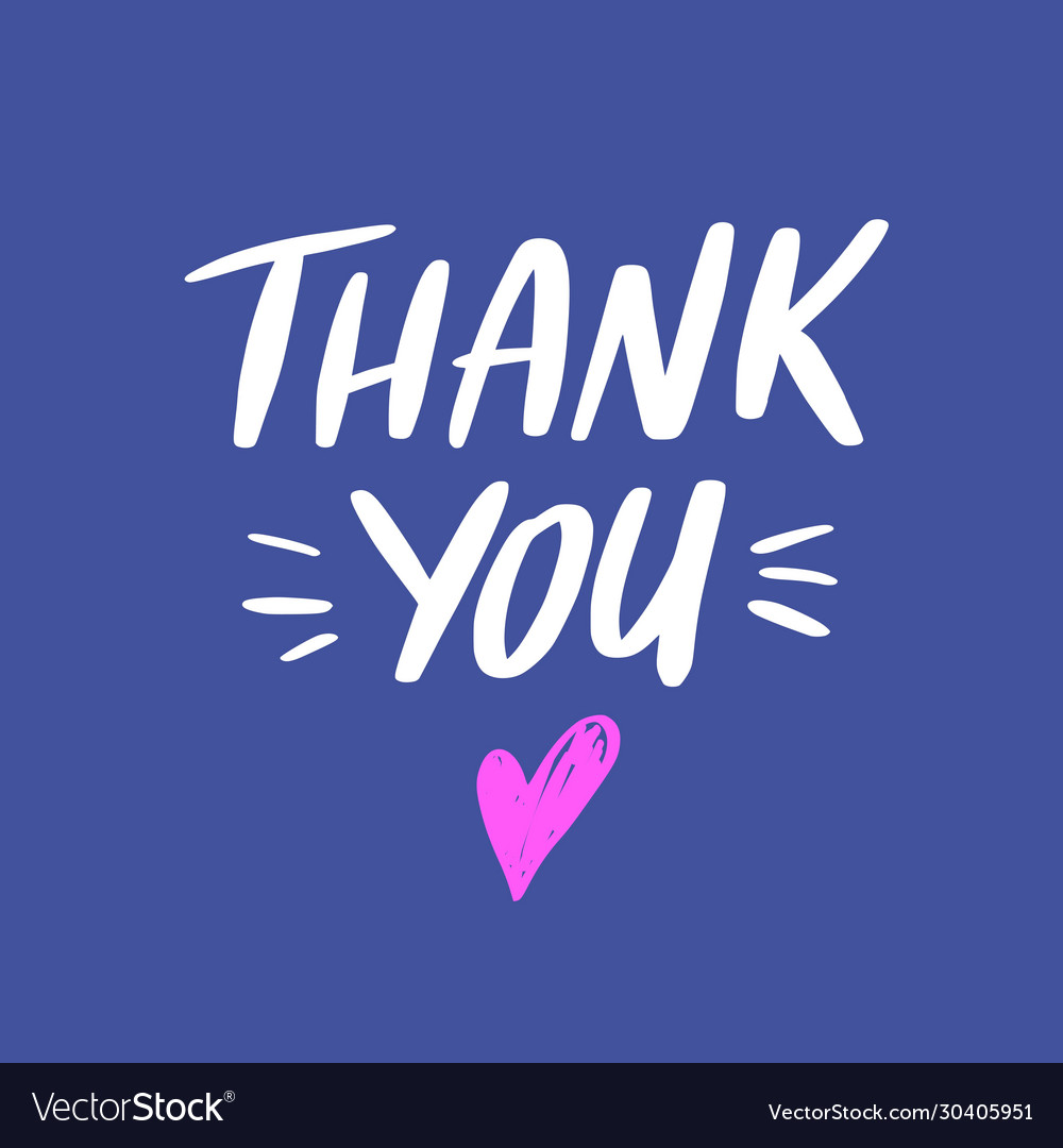 Thank you lettering quote phrase greeting