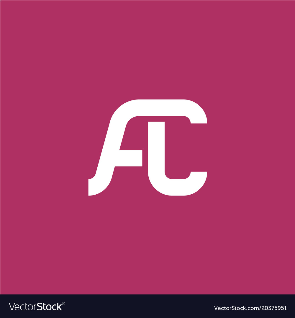 Two letters a and c ligature logo