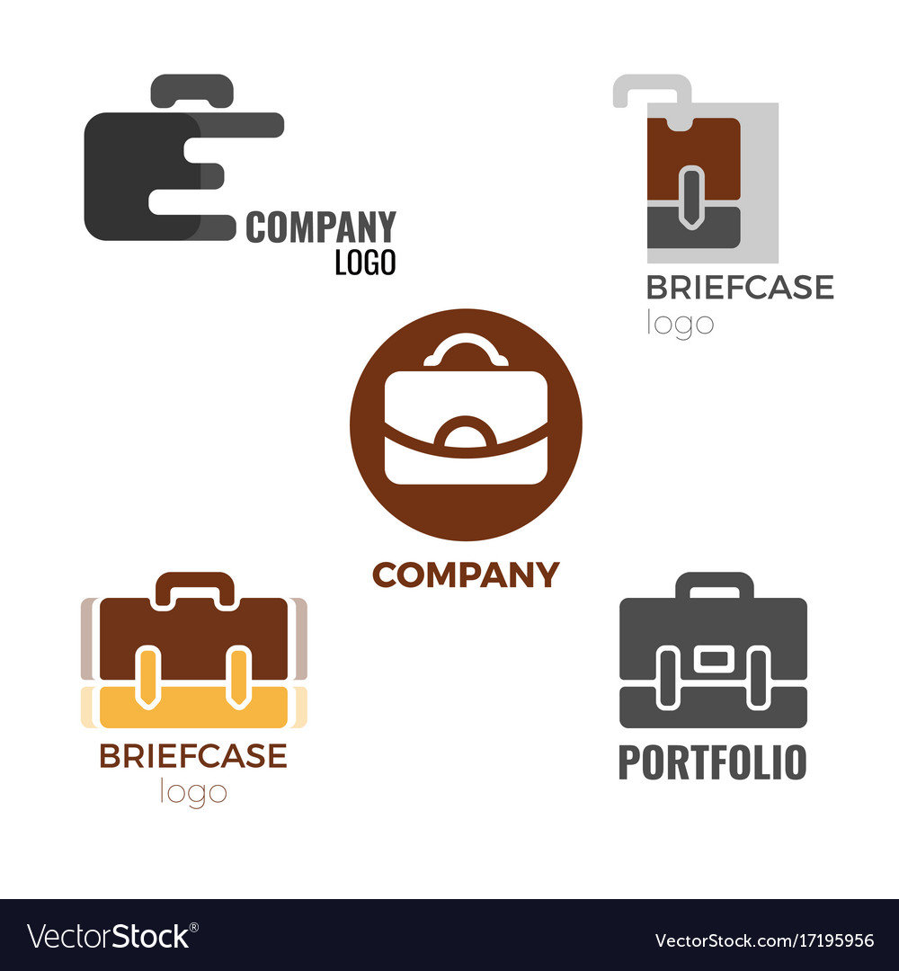 Briefcase logos collection of on