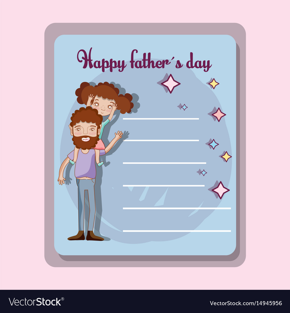 Father day card to celebrate special day vector image