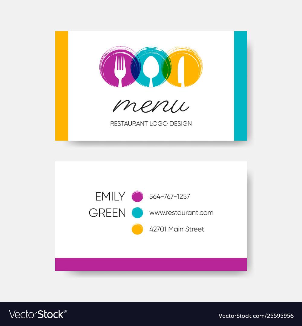 Template For Menu Cards from cdn2.vectorstock.com