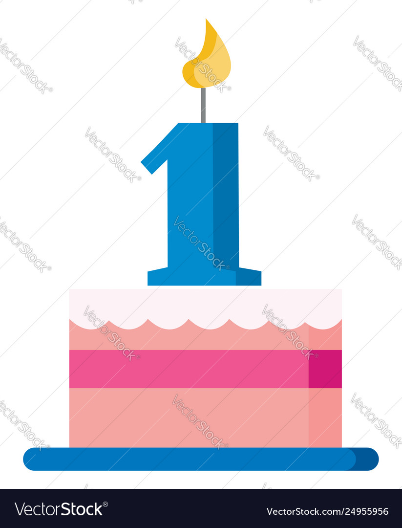 Pink cake to celebrate first birthday or color