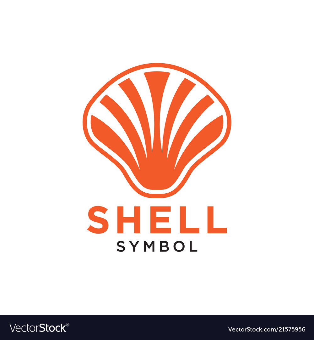 Shell abstract logo design template isolated vector