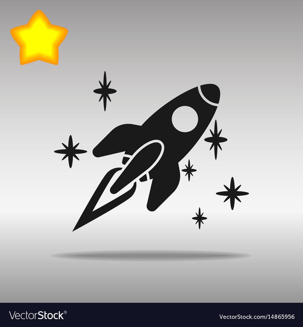 Spaceship black icon button logo symbol
