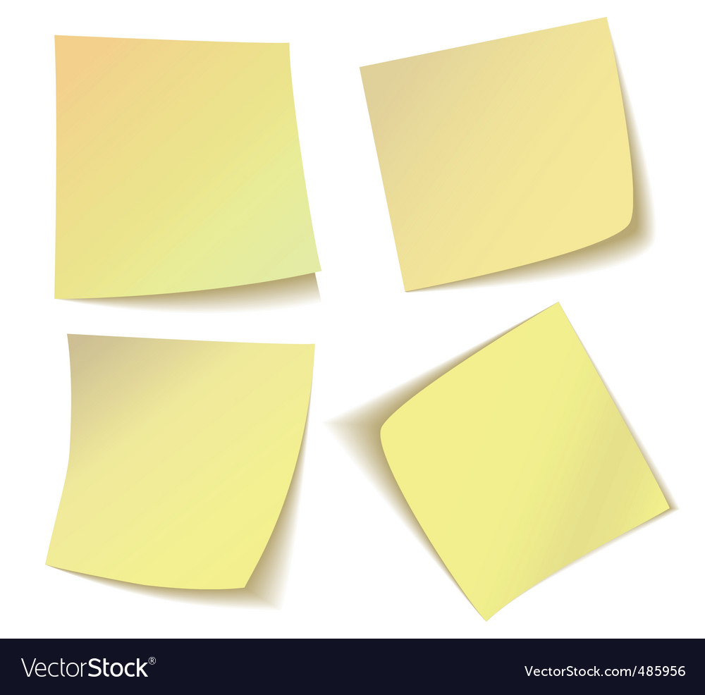 sticky notes royalty free vector image vectorstock rh vectorstock com sticky note vector illustrator sticky note vector icon
