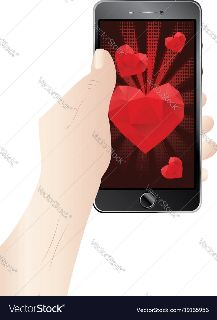 Valentins Day Greeting On Display Royalty Free Vector Image