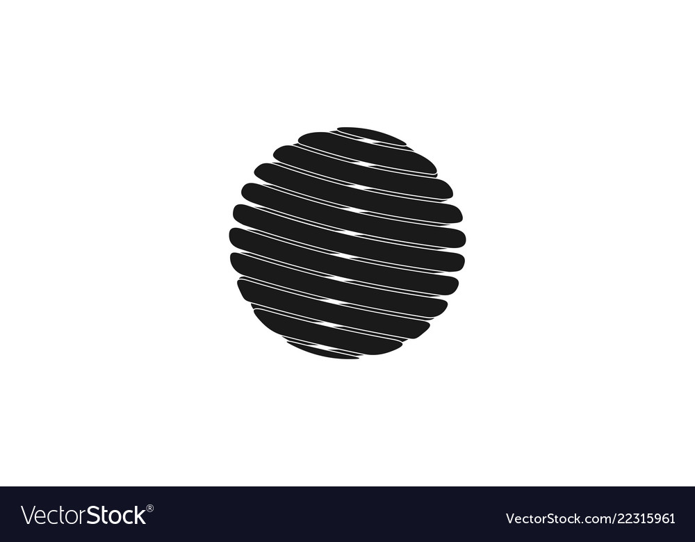 Abstract globe logo designs inspiration isolated