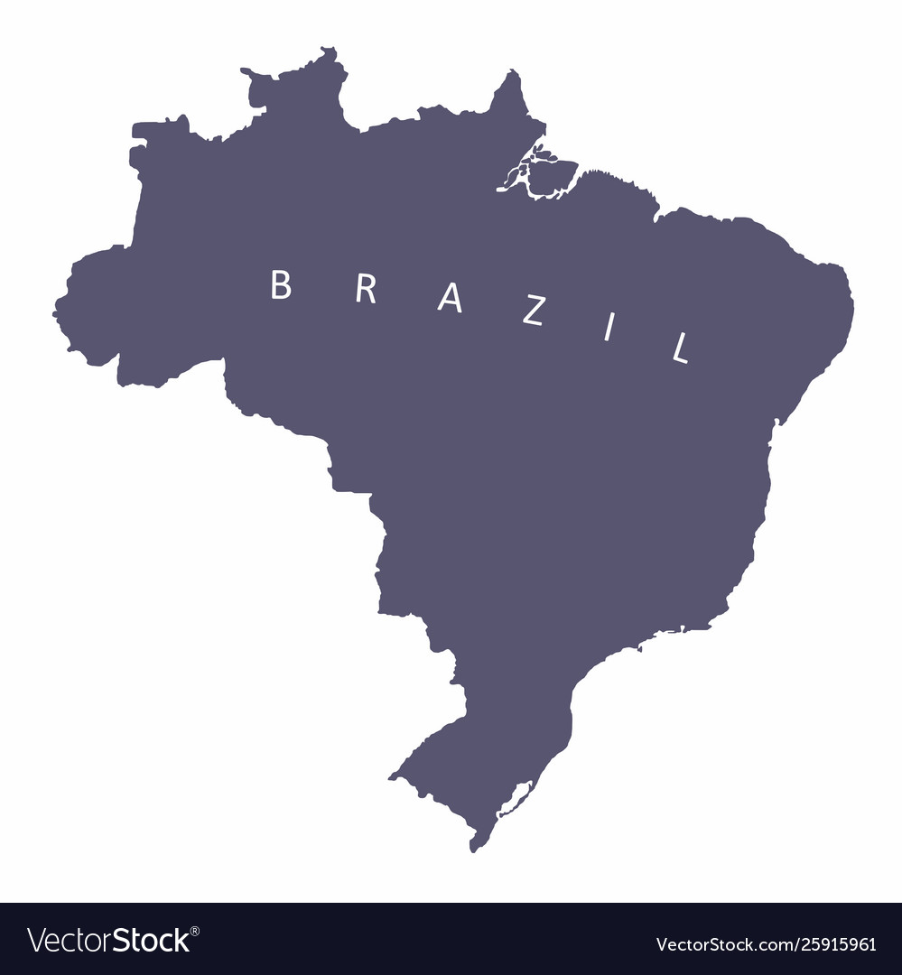 Brazil silhouette map