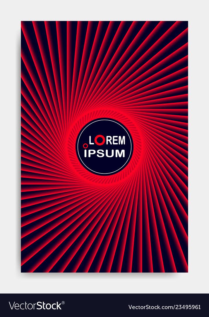 Cover design template for decoration presentation