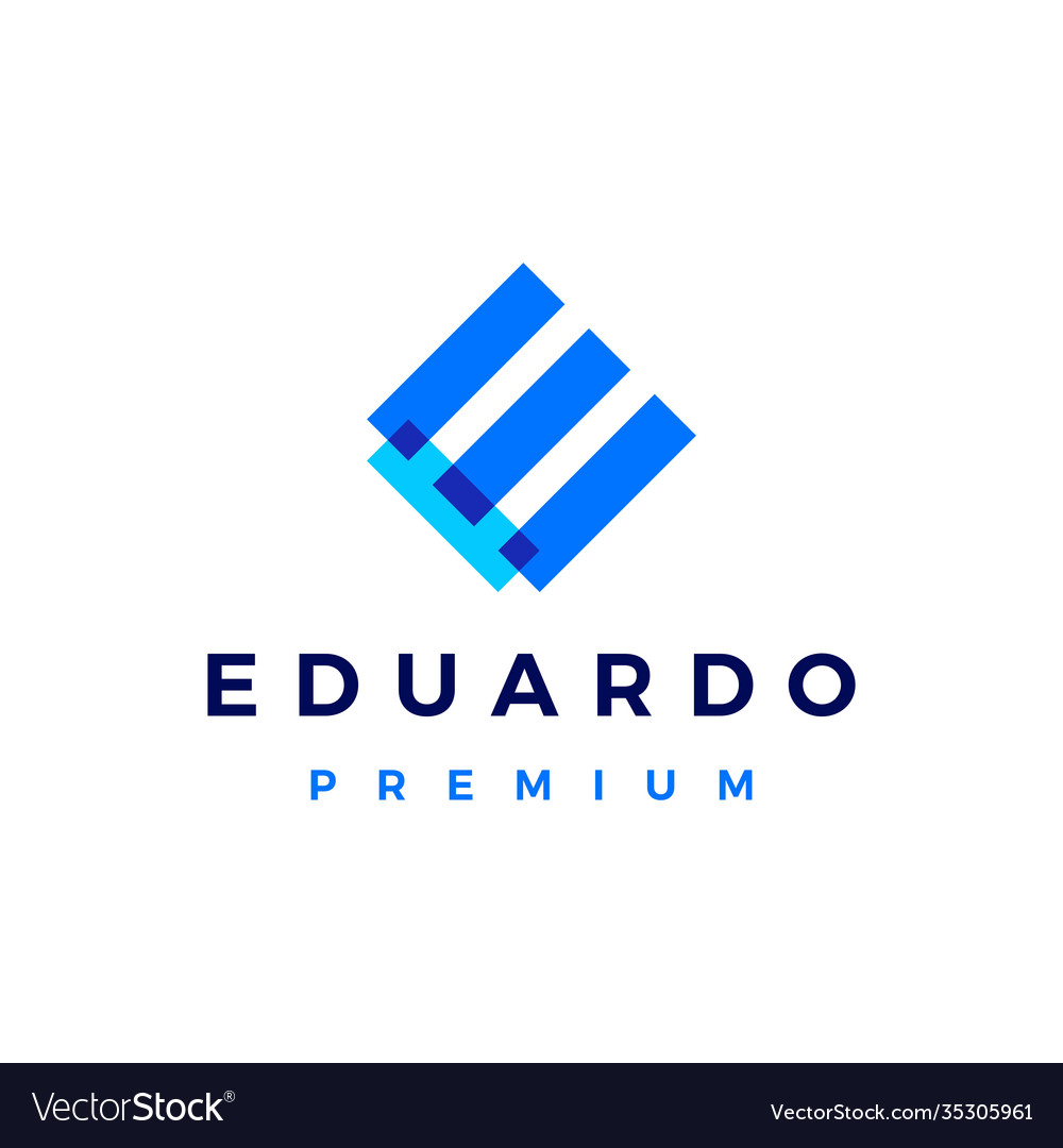 E letter overlapping logo icon