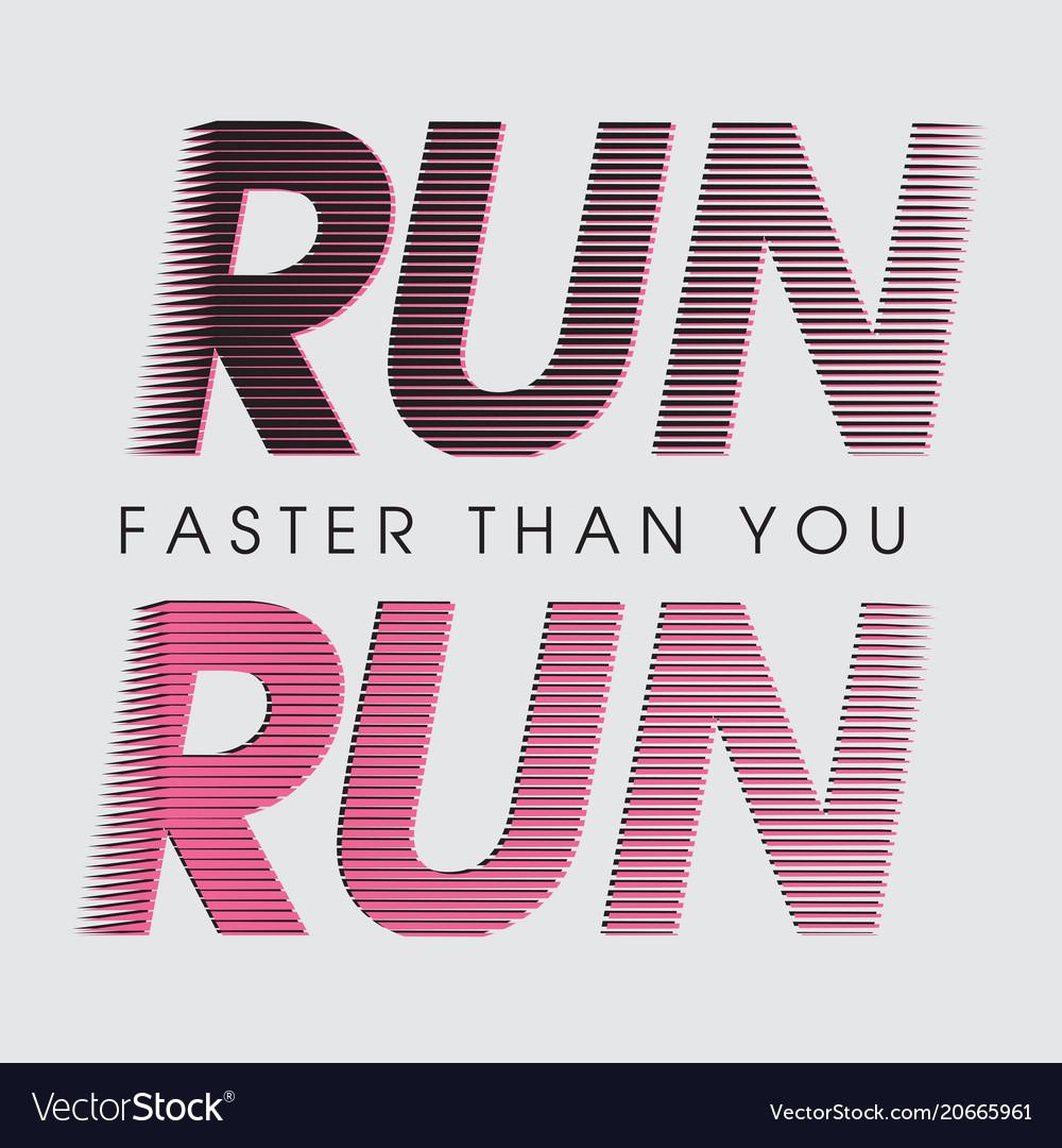 Fashion sport print motivational lettering