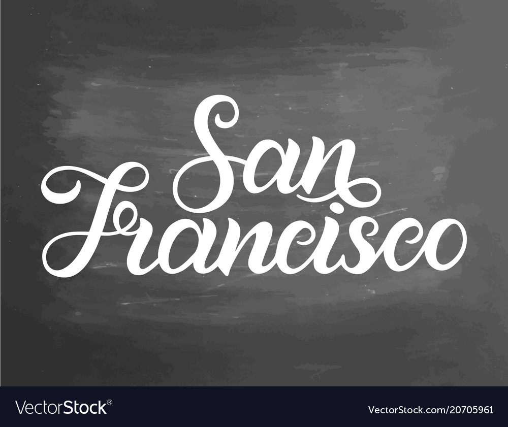 Greetings from san francisco usa typography vector image m4hsunfo