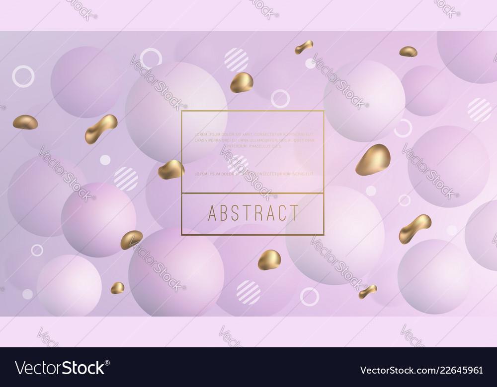 Liquid background with golden fluid