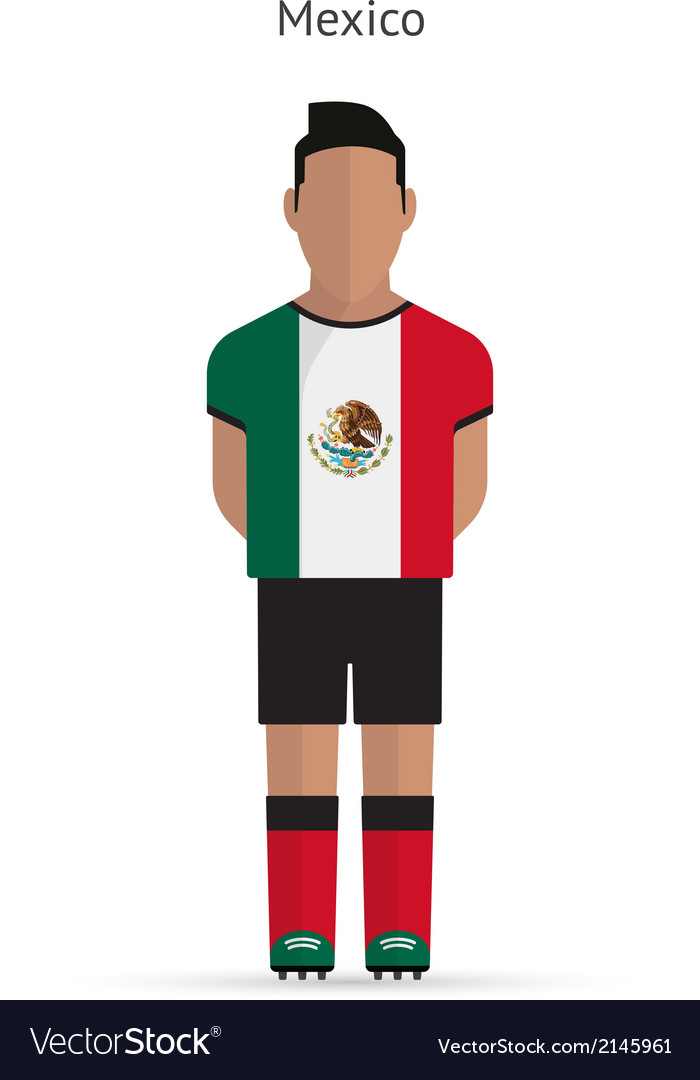 a91a70b011e Mexico football player Soccer uniform Royalty Free Vector