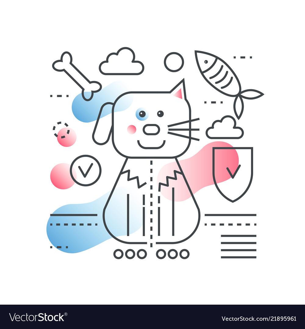 Pet friend concept domestic pet store