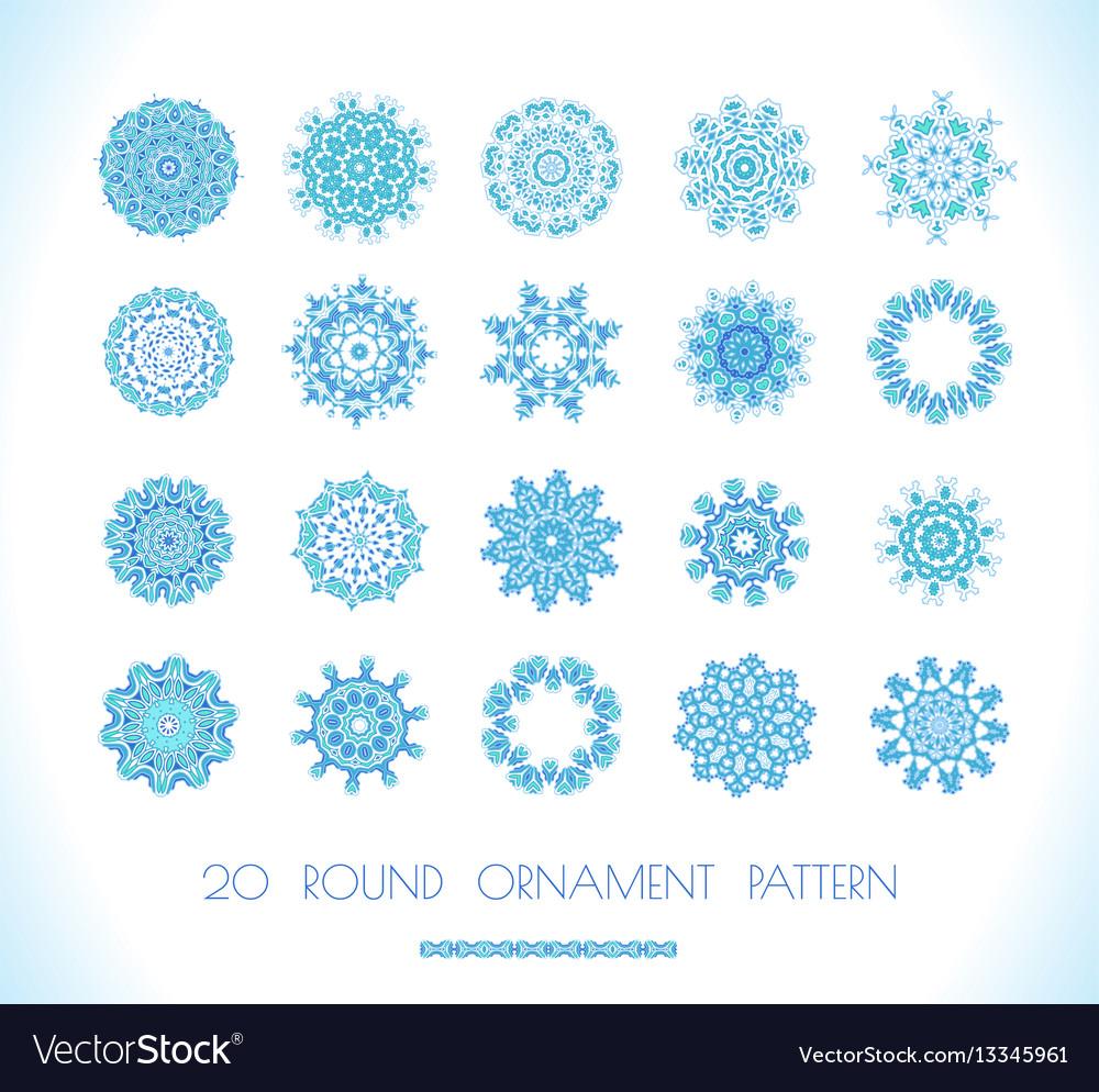 Set of snowflakes