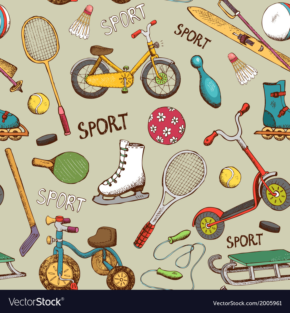 Sports and action games pattern