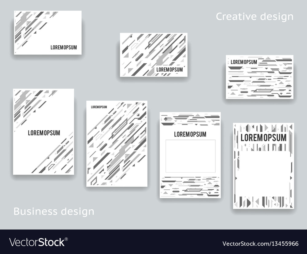 Abstract geometric decor design template a4 flyer