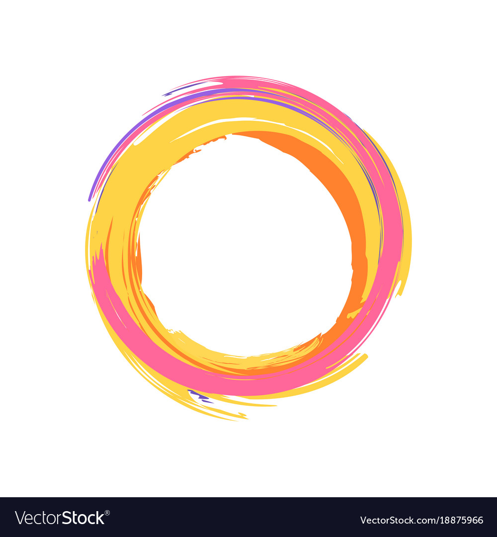 Colorful icon of circle on