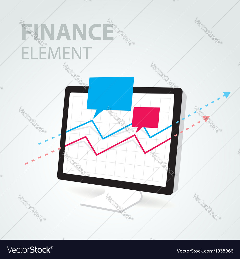 Finance diagram icon element computer pc display