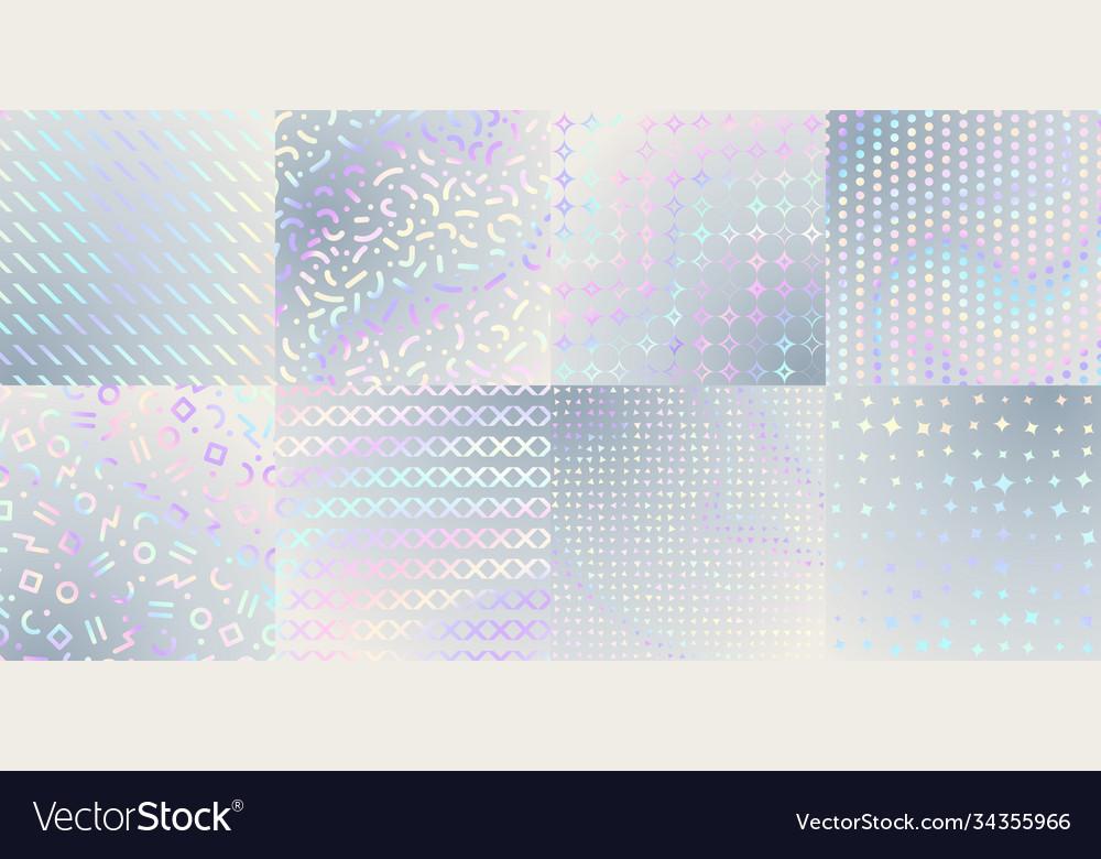 Holographic textures iridescent foil hologram